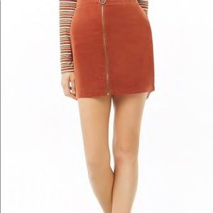 NWT Plus Size Forever21 Corduroy Mini Skirt. 2X